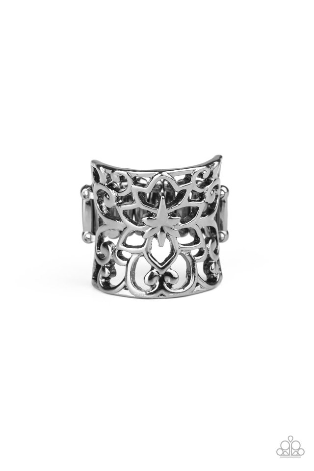 Guru Garden - Black - Paparazzi Ring Image