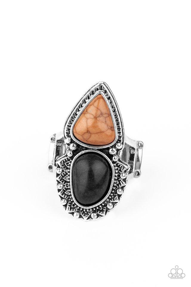 Mojave Mosaic - Black - Paparazzi Ring Image