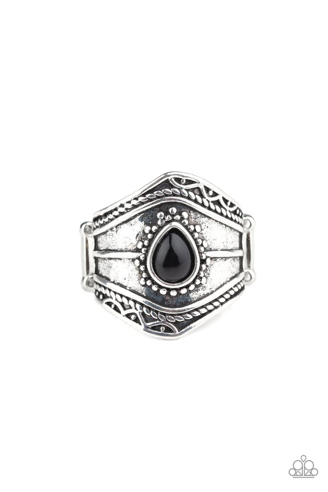 Tribe Mode - Black - Paparazzi Ring Image