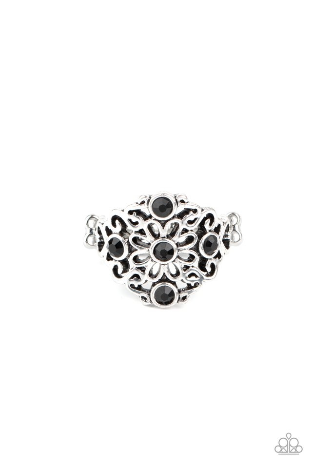 One DAISY At A Time - Black - Paparazzi Ring Image