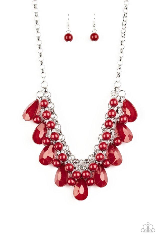 Endless Effervescence - Red - Paparazzi Necklace Image