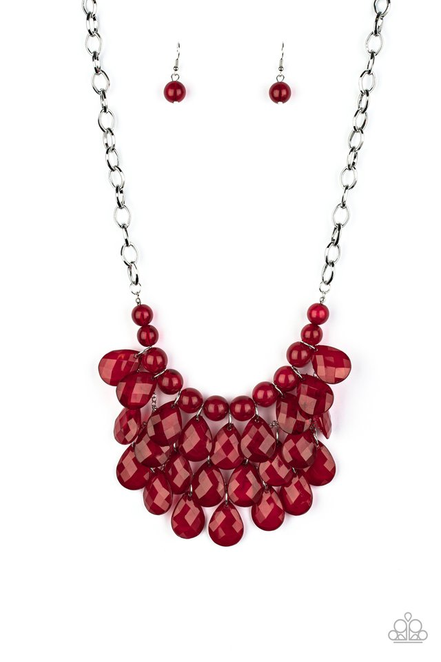 Sorry To Burst Your Bubble - Red - Paparazzi Necklace Image