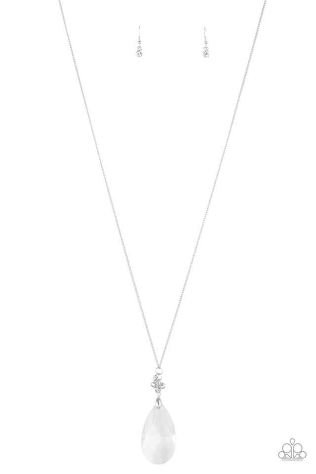 Up in the HEIR - White - Paparazzi Necklace Image