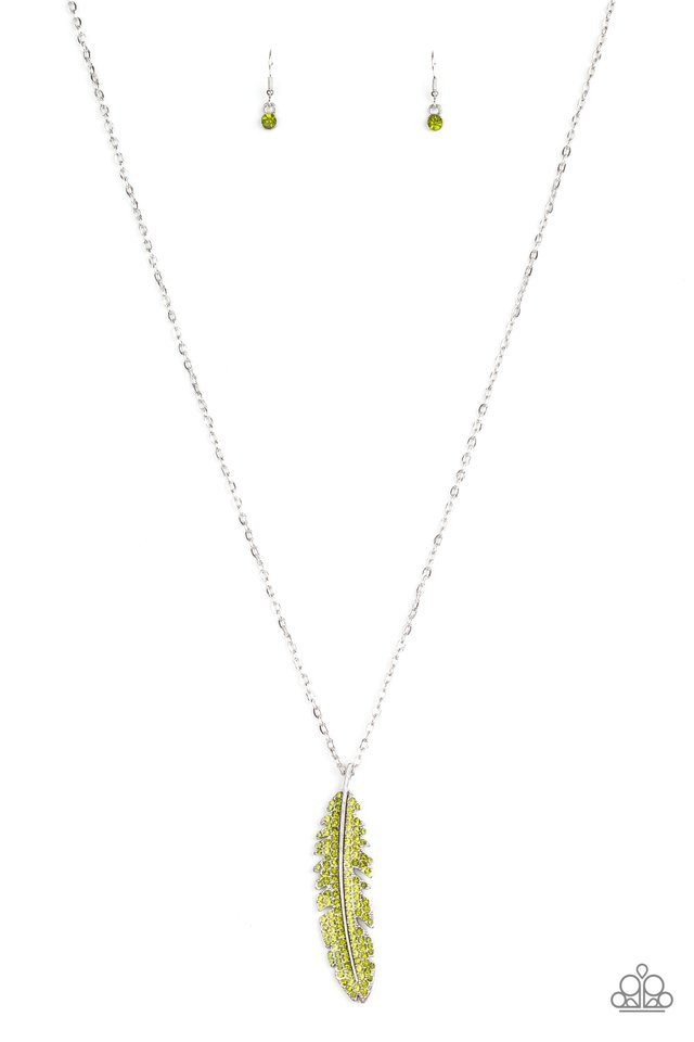 Soaring High - Green - Paparazzi Necklace Image