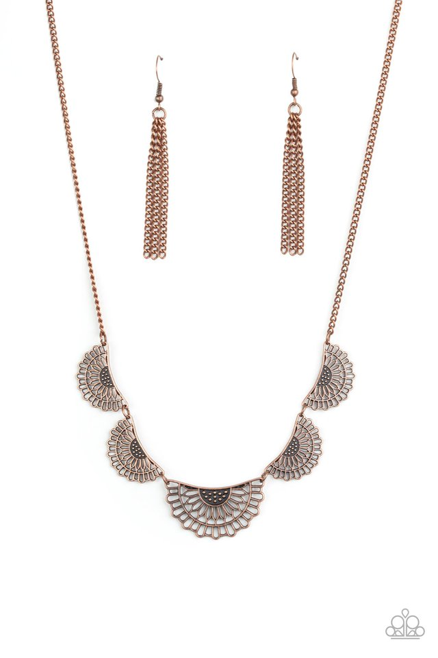 Fanned Out Fashion - Copper - Paparazzi Necklace Image