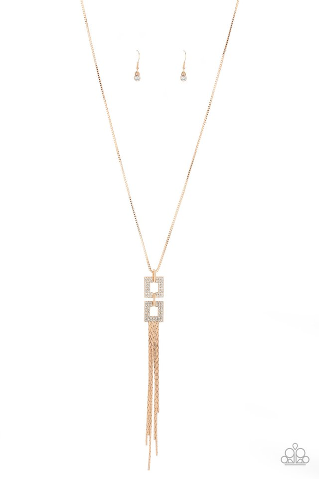 Times Square Stunner - Gold - Paparazzi Necklace Image