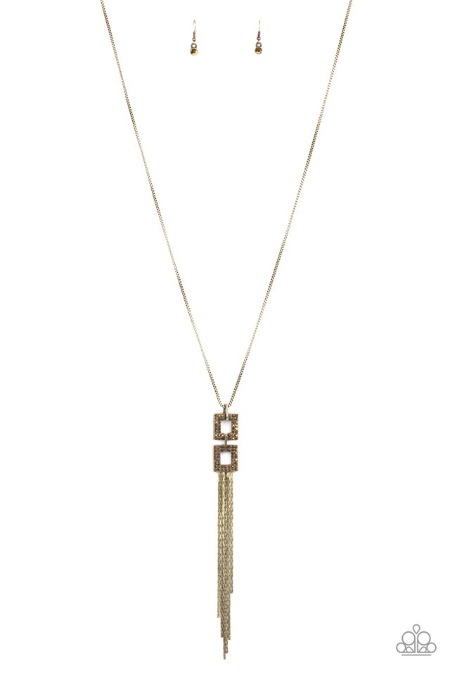 Times Square Stunner - Brass - Paparazzi Necklace Image