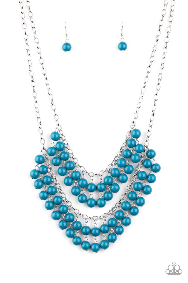 Bubbly Boardwalk - Blue - Paparazzi Necklace Image