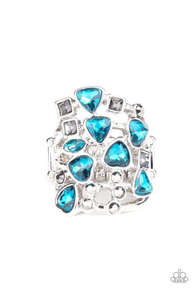Glitter Flirt - Blue - Paparazzi Ring Image