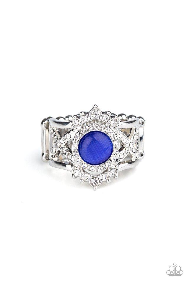 Decadently Dreamy - Blue - Paparazzi Ring Image