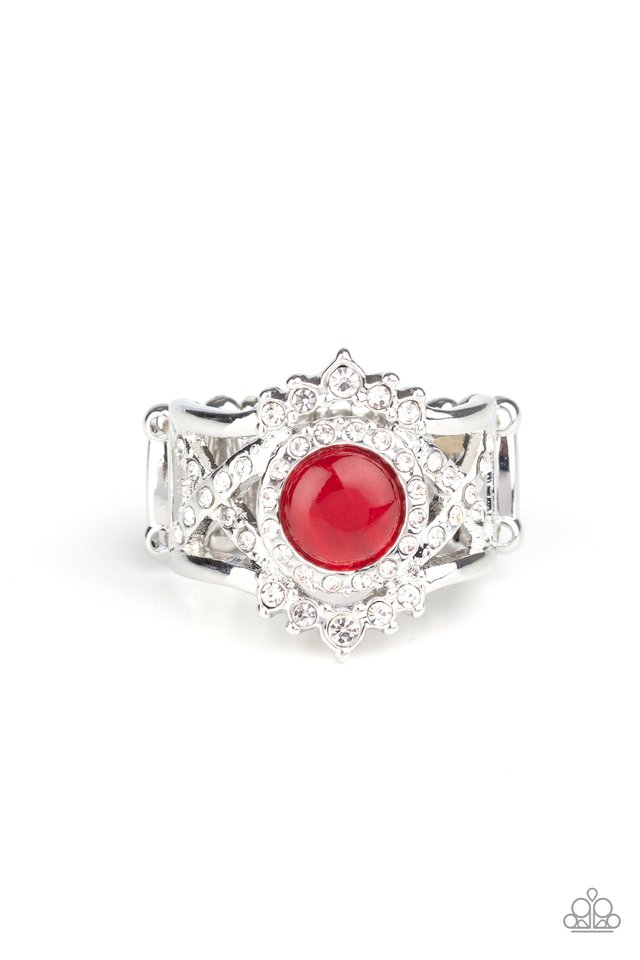 Decadently Dreamy - Red - Paparazzi Ring Image