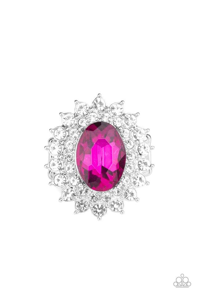 Secret Garden Glow - Pink - Paparazzi Ring Image