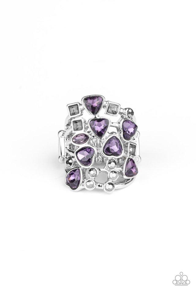 Glitter Flirt - Purple - Paparazzi Ring Image