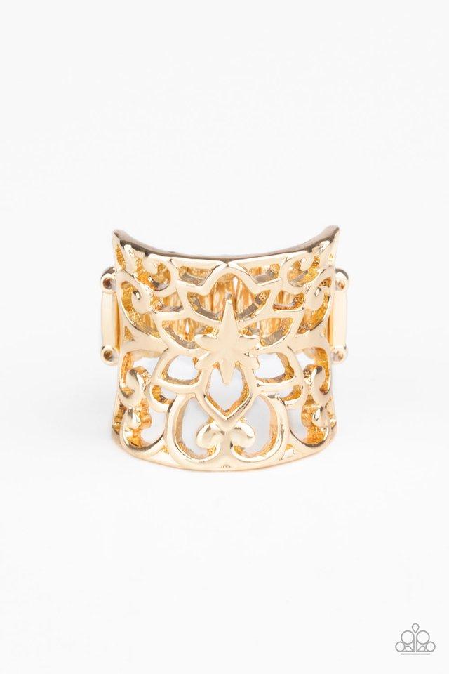 Guru Garden - Gold - Paparazzi Ring Image
