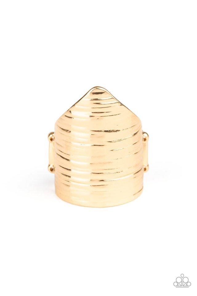 Make Your Mark - Gold - Paparazzi Ring Image