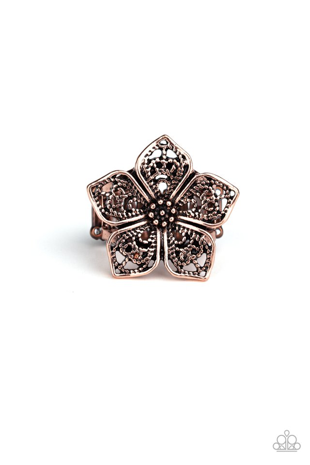 Full Bloom Fancy - Copper - Paparazzi Ring Image