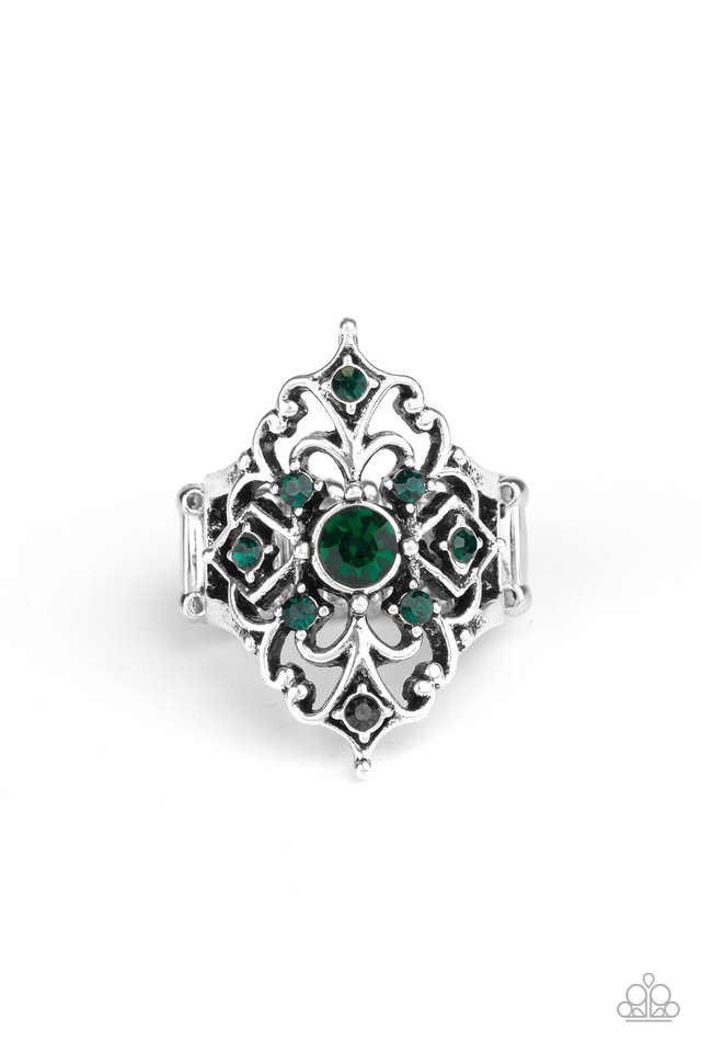 Imperial Iridescence - Green - Paparazzi Ring Image