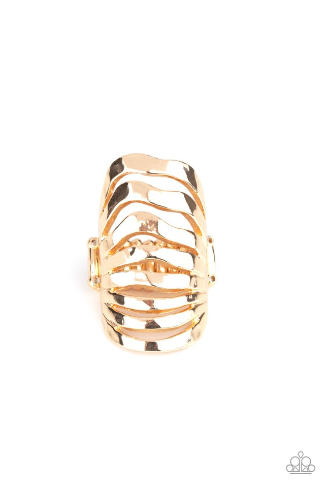 Sound Waves - Gold - Paparazzi Ring Image