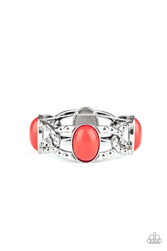 Dreamy Gleam - Red - Paparazzi Bracelet Image