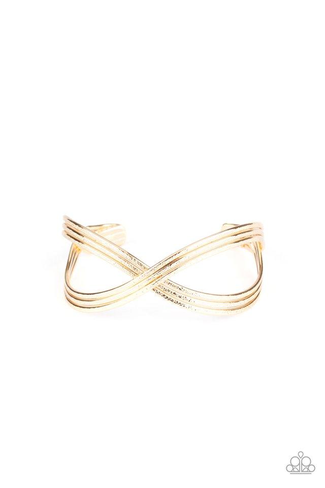 Infinitely Iridescent - Gold - Paparazzi Bracelet Image