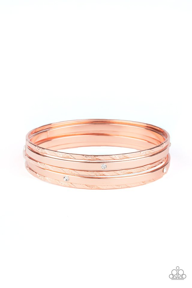Be There With Baubles On - Copper - Paparazzi Bracelet Image