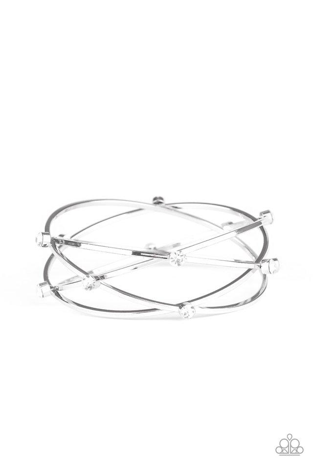 Cosmic Sparkle - White - Paparazzi Bracelet Image