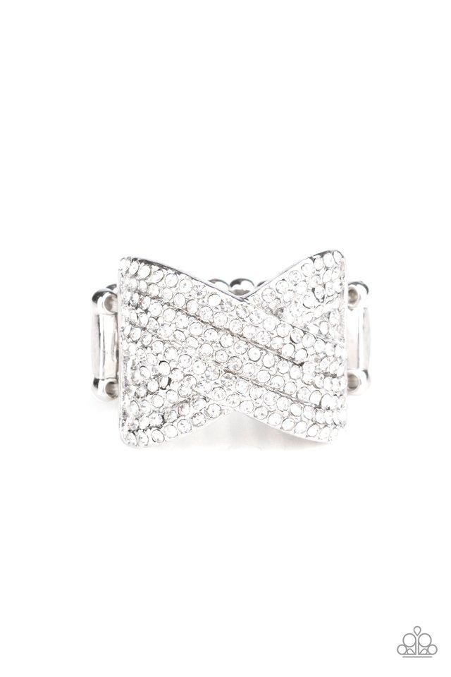 Girl Boss Glitter - White - Paparazzi Ring Image