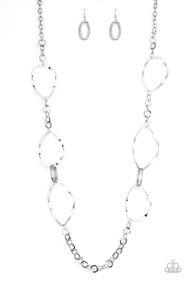 Abstract Artifact - Silver - Paparazzi Necklace Image