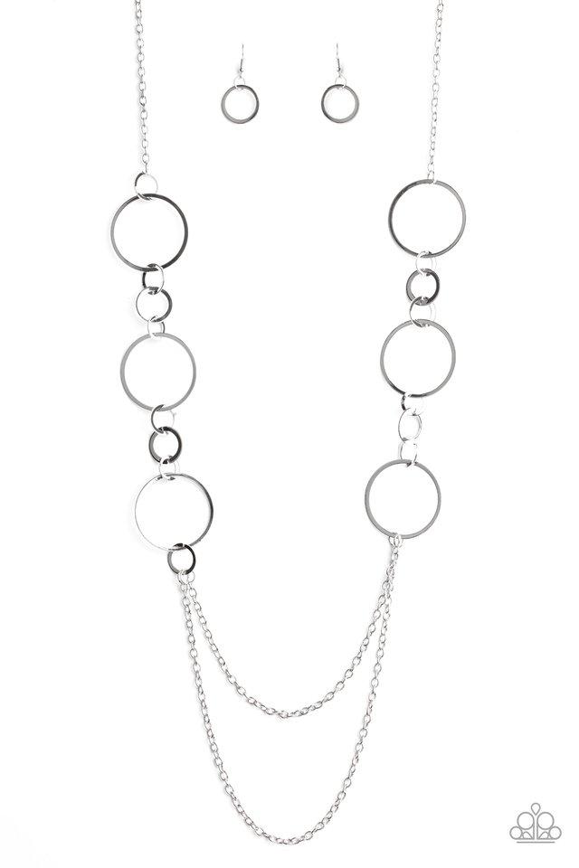 Basic Babe - Silver - Paparazzi Necklace Image