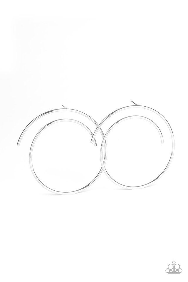 Vogue Vortex - Silver - Paparazzi Earring Image