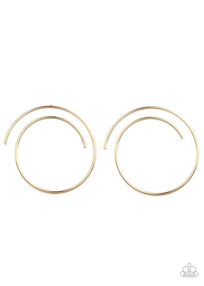 Vogue Vortex - Gold - Paparazzi Earring Image