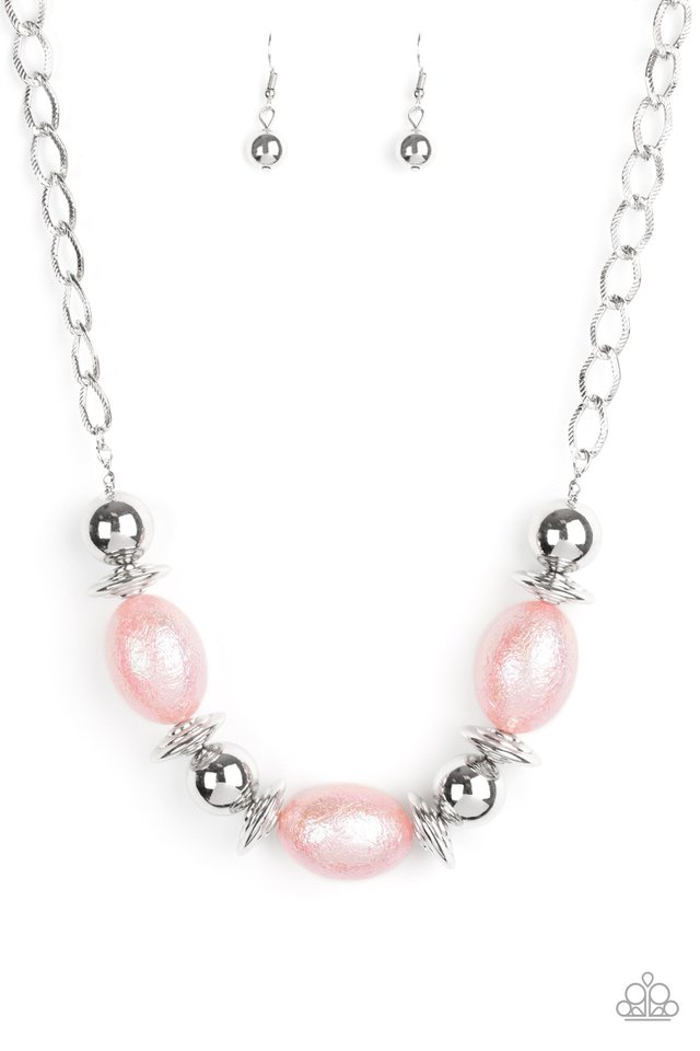 Welcome To The Big Leagues - Pink - Paparazzi Necklace Image