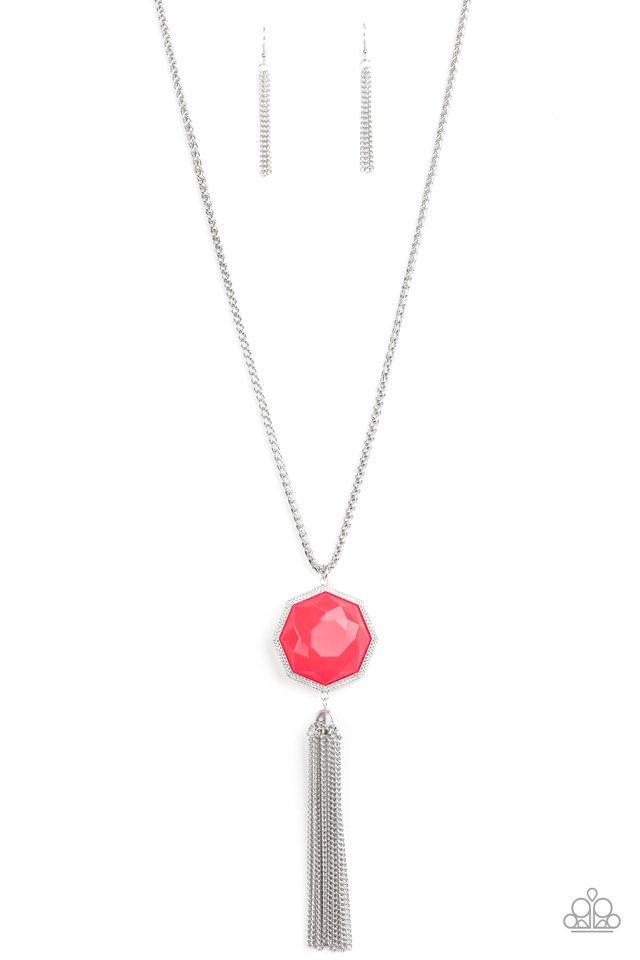 Prismatically Polygon - Pink - Paparazzi Necklace Image
