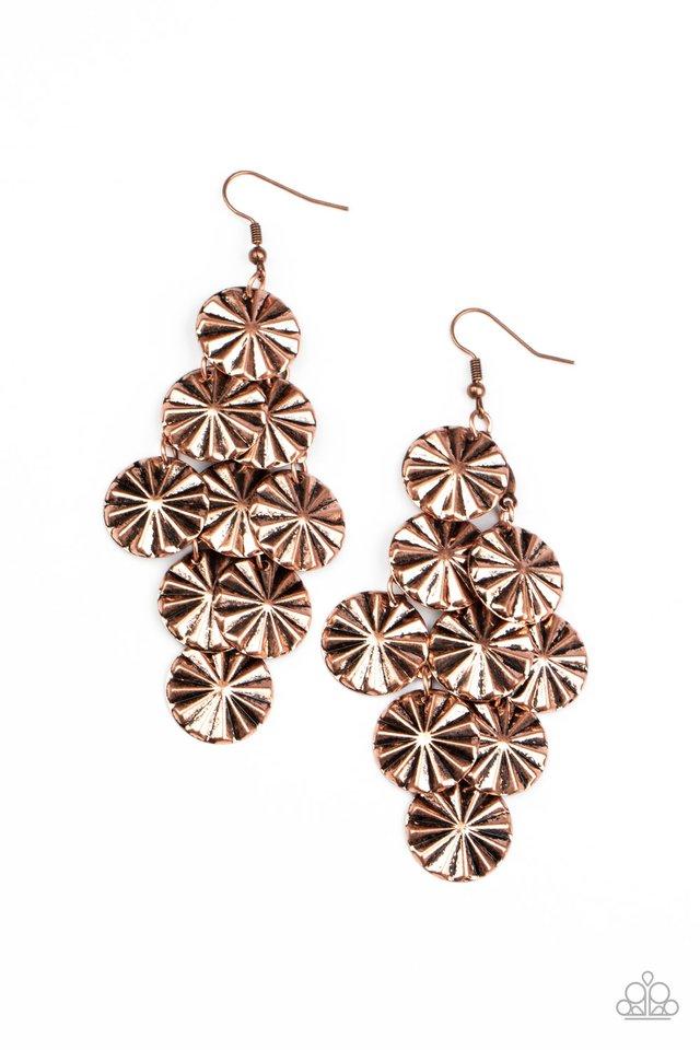Star Spangled Shine - Copper - Paparazzi Earring Image