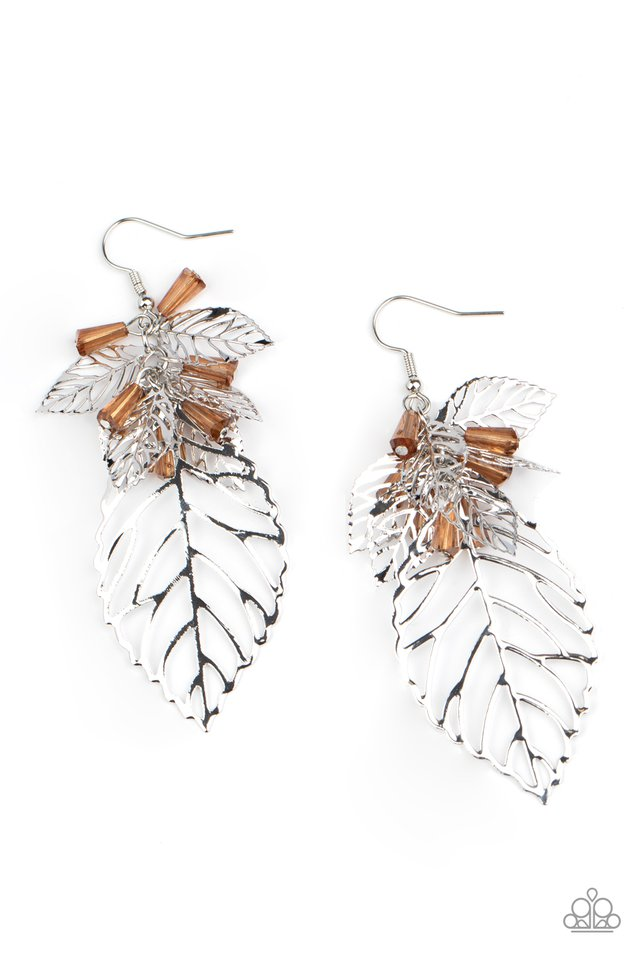 Instant Re-LEAF - Brown - Paparazzi Earring Image