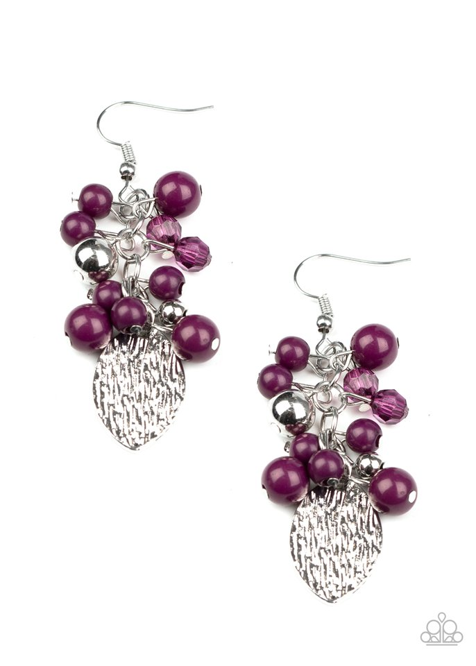 Fruity Finesse - Purple - Paparazzi Earring Image