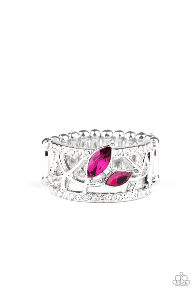 Tilted Twinkle - Pink - Paparazzi Ring Image
