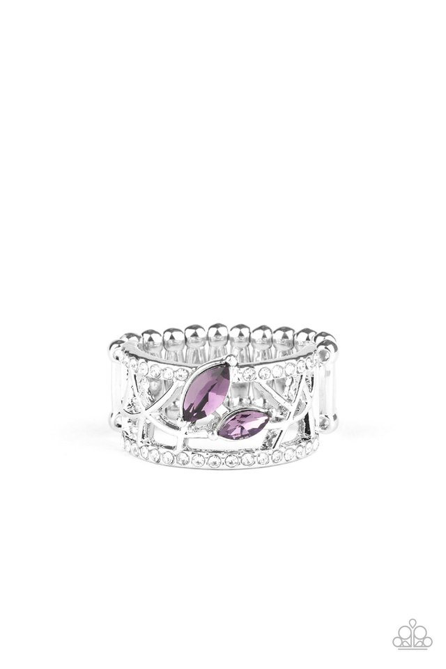 Tilted Twinkle - Purple - Paparazzi Ring Image