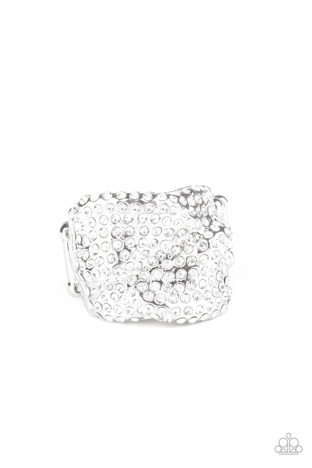 Imperial Industrialism - White - Paparazzi Ring Image
