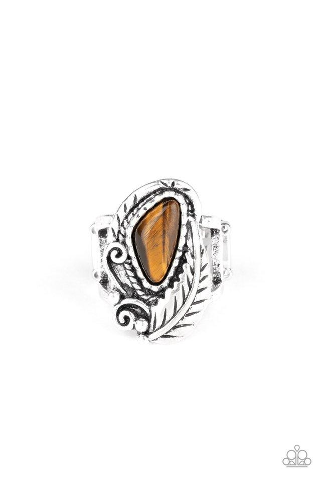 Palm Princess - Brown - Paparazzi Ring Image