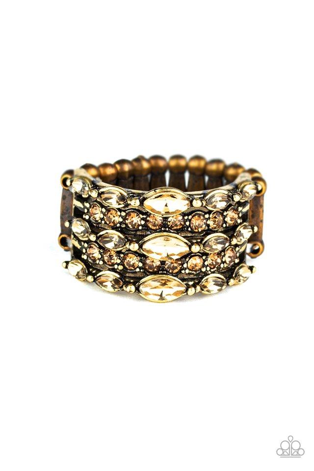 Diva Diadem - Brass - Paparazzi Ring Image