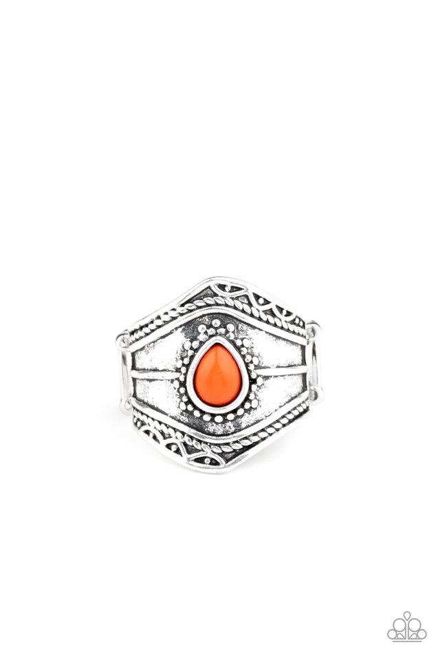 Tribe Mode - Orange - Paparazzi Ring Image