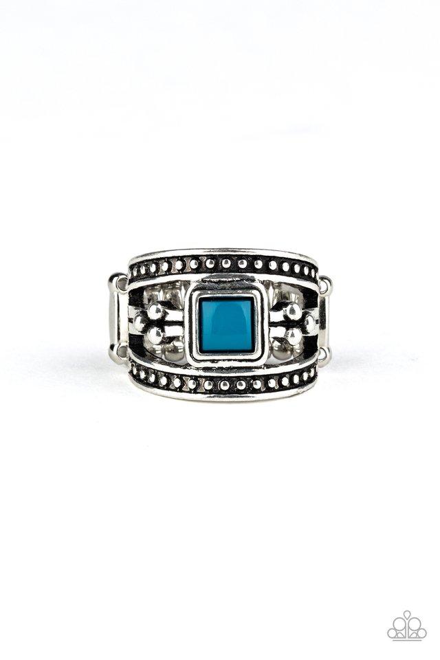 Vivid View - Blue - Paparazzi Ring Image