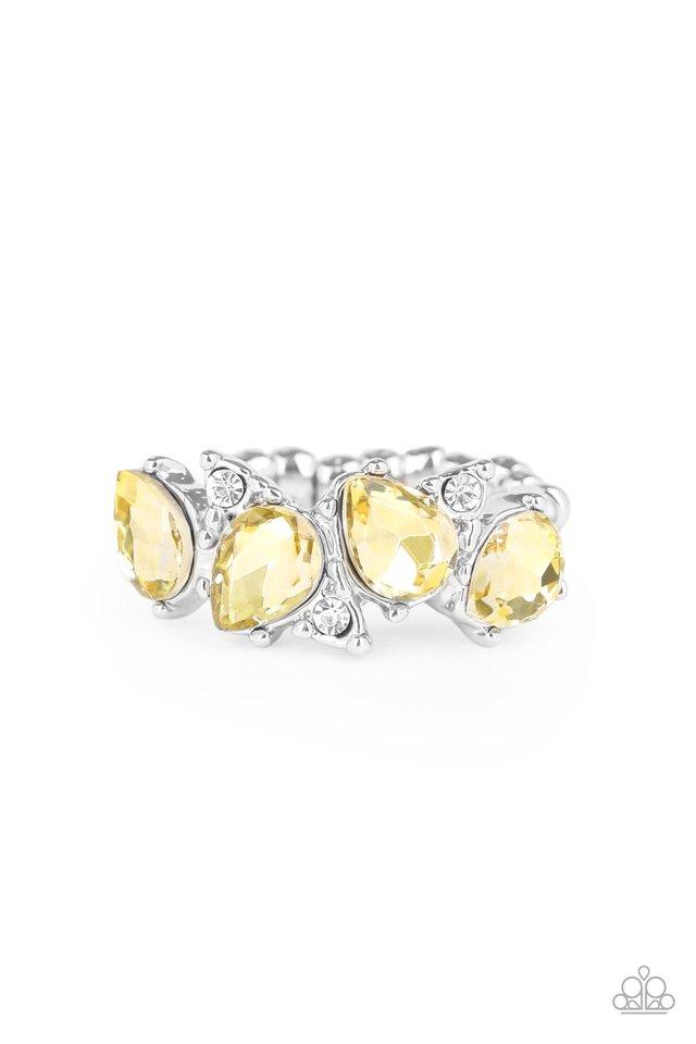 Majestically Modern - Yellow - Paparazzi Ring Image