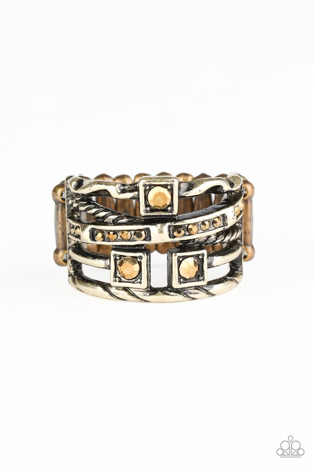 Couture Connoisseur - Brass - Paparazzi Ring Image