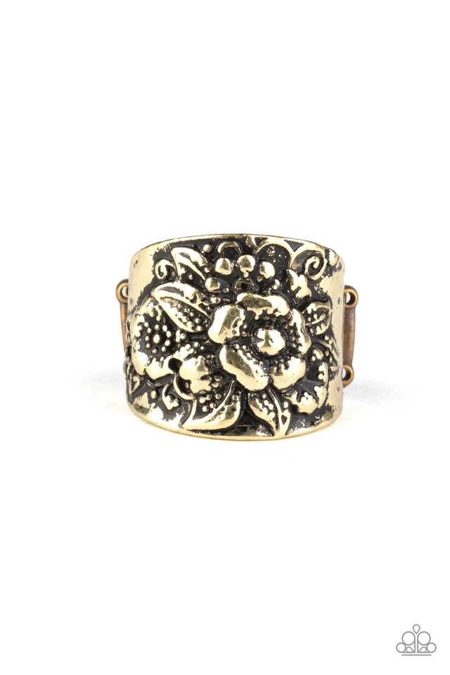 Tropical Bloom - Brass - Paparazzi Ring Image