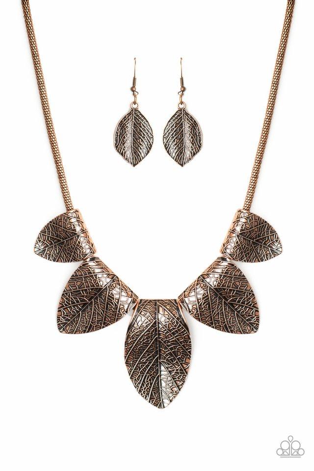 Garden Gatherer - Copper - Paparazzi Necklace Image