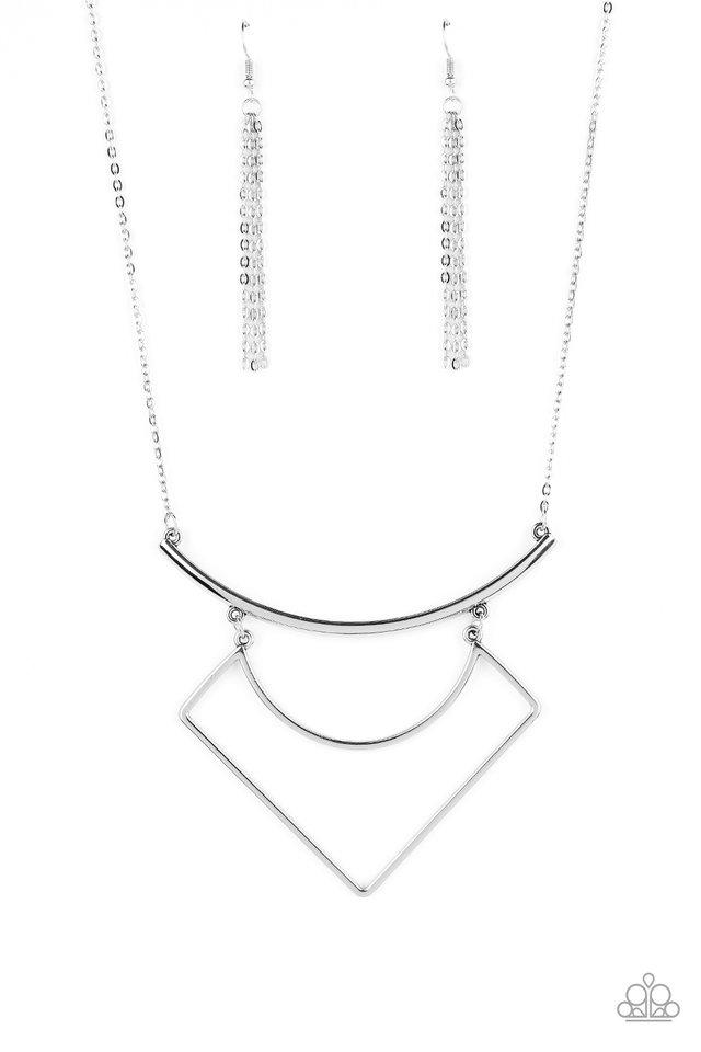 Egyptian Edge - Silver - Paparazzi Necklace Image