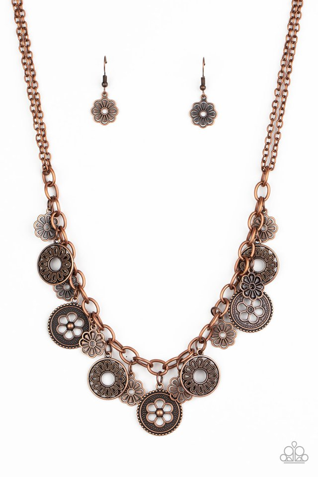 Meadow Masquerade - Copper - Paparazzi Necklace Image
