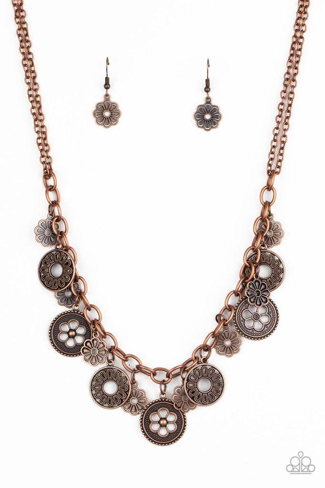 Meadow Masquerade - Copper - Paparazzi Necklace Image